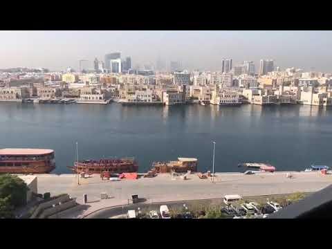 Timelapse Dubai City Deira Old Dubai