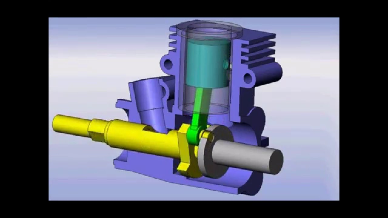 two stroke engine animation solidworks 2007 youtube Four-Stroke Combustion Engine Car Diagram Simple two stroke engine animation solidworks 2007