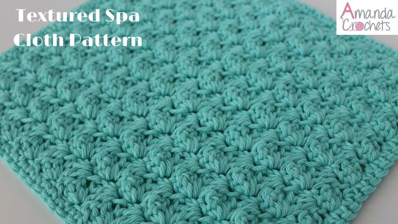 Textured Spa Cloth Crochet Pattern - YouTube