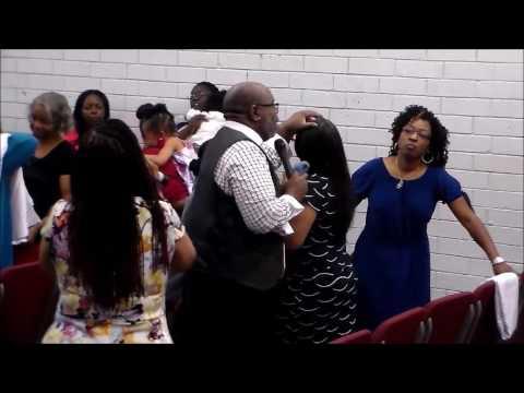Pastor Juan Goodson Singing/Laying Hands at Restoration Ministries COGIC!