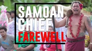 A Samoan Chief 39 s Farewell Lotoso 39 a Saleimoa Upolu Samoa
