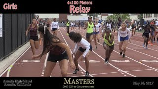 2017 TF - CIF-ss Masters - 4x100 Relay (Girls) (03)