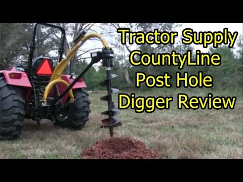 CountyLine Post Hole Digger - Review and first use