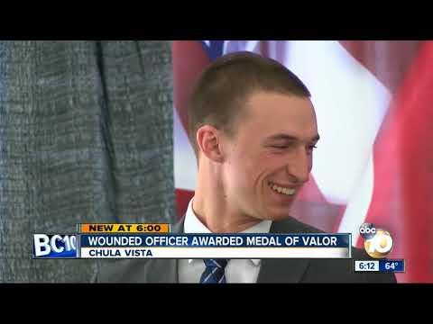 Chula Vista officer receives Medal of Valor, Purple Heart