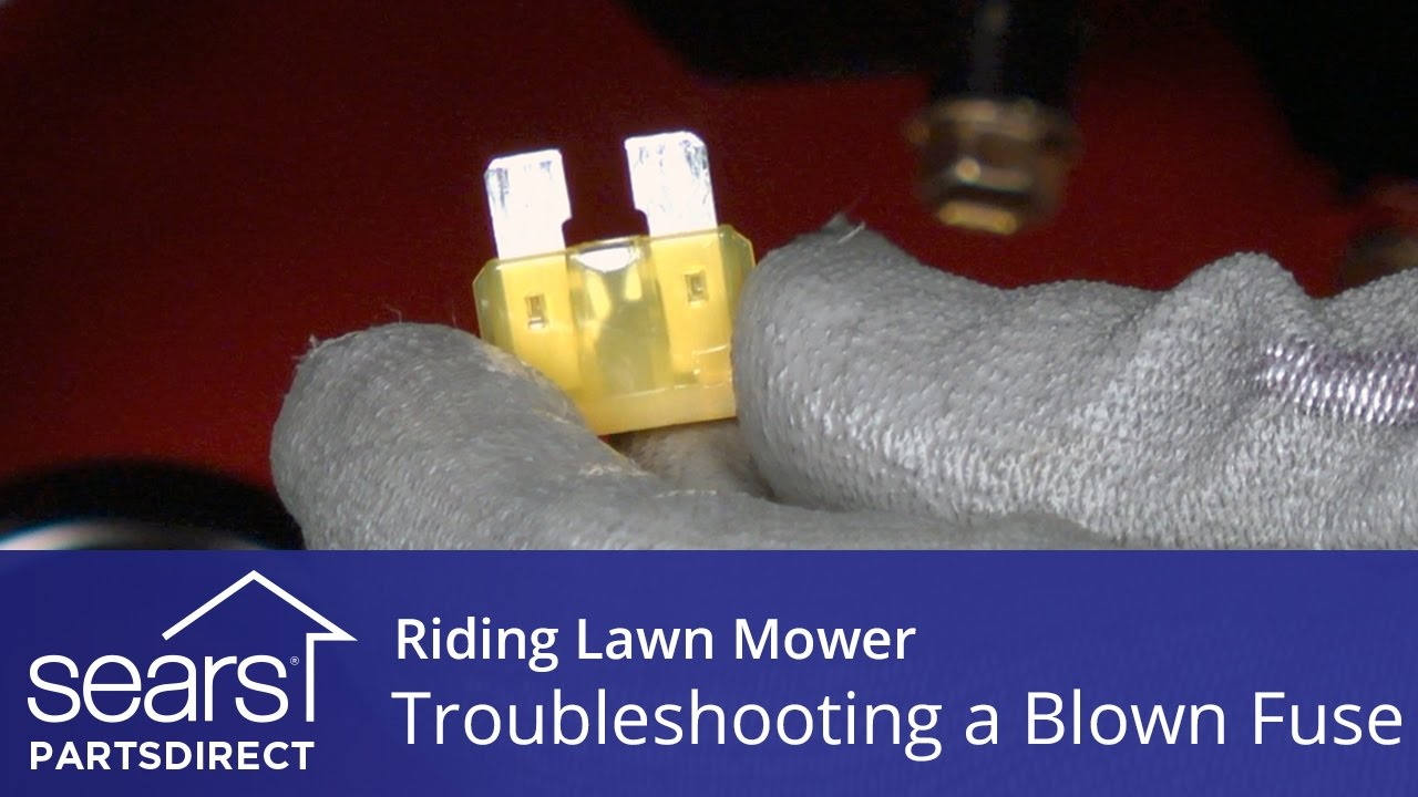Troubleshooting A Blown Fuse On Riding Lawn Mower Youtube L T Motor Starter Circuit Diagram