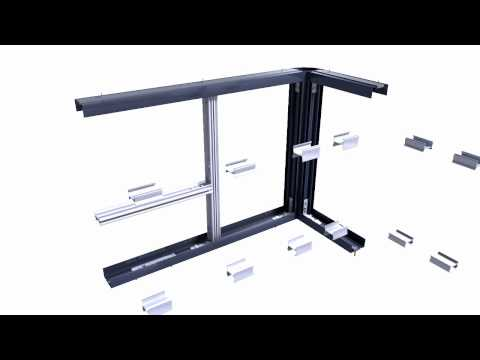 TIASO AZ-78 FRENCH ALUMINIUM DEMONTABLE PARTITIONS ASSEMBLY