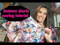 How to make a pair of shorts. Easy shorts pattern tutorial
