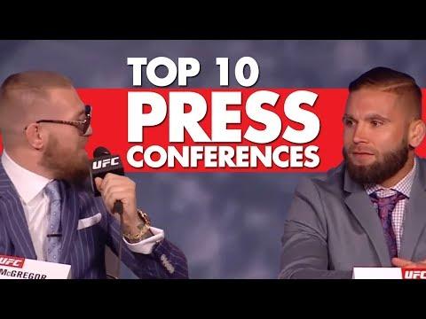 Top 10 Press Conferences In MMA