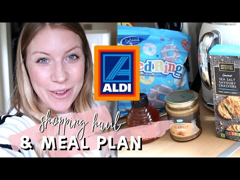 ALDI GROCERY HAUL AND MEAL PLAN FOR A FAMILY OF 4