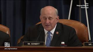 Rep. louie gohmert, r-texas, used his allotted time on the first day of public hearings by house judiciary committee as part impeachment inquiry i...
