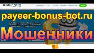 Обзор сайта payeer-bonus-bot.ru / Мошеннический сайт