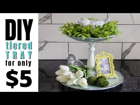 How to make your own tiered tray for $5!