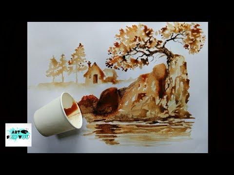 Coffee art   artwork   coffee decor   instant coffee art   tea Painting - best latte art show