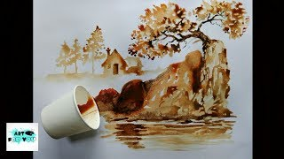 Coffee art | artwork | coffee decor | instant coffee art | tea Painting - best latte art show thumbnail