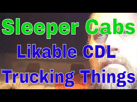 Likable CDL Truck Driving Things  Sleeper Cab  Red Viking Trucker