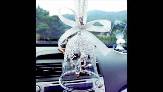 Girly car decoration ideas  cover and charms for Mirror