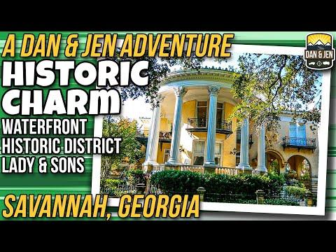 HISTORIC SAVANNAH, GEORGIA - Civil War - Revolutionary War - Waterfront - Historic District