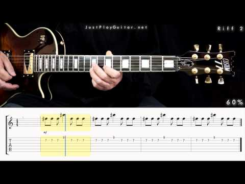 [ LINKIN PARK - Numb] How to play part 2/2 [ free guitar lesson ] 40% 60% and 80% speed with tabs