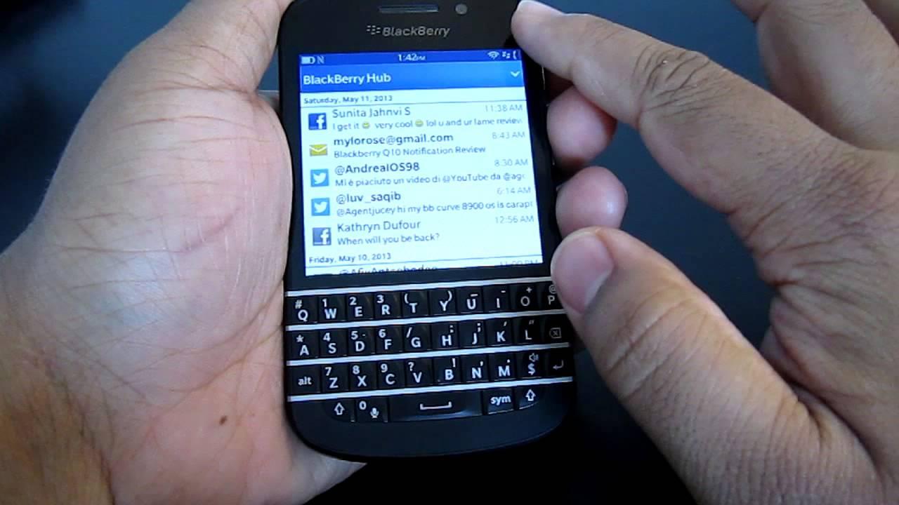 Blackberry q10z10q5 hub trick refreshingreset the hub youtube ccuart Gallery