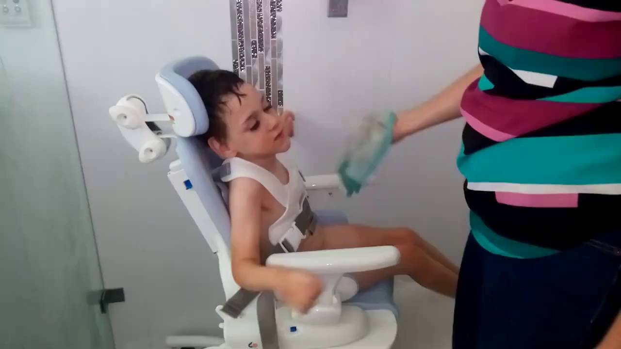 Dexters First Independent Shower  Cerebral Palsy  YouTube