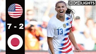 USA vs Japan 7 - 2 All Goals & Highlights | Last 2 Games | 2017 & 2018 Tournament of Nations
