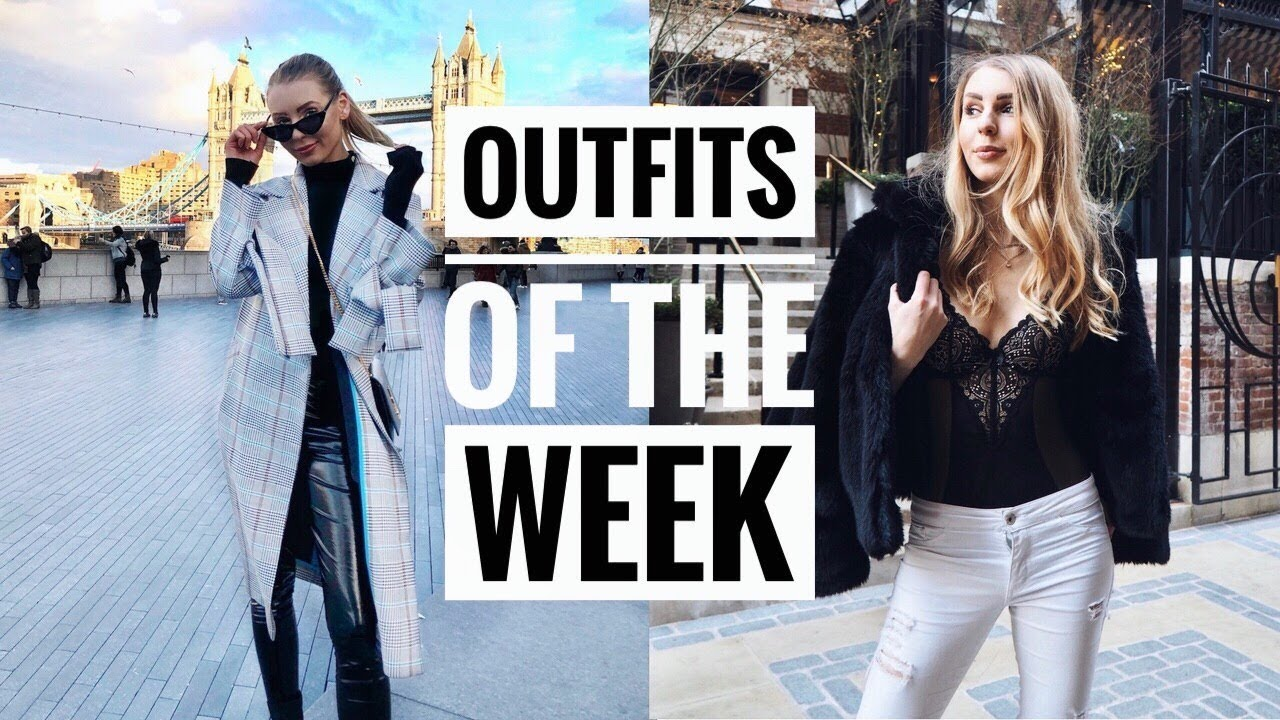 OUTFITS OF THE WEEK | CASUAL WINTER OUTFITS 2018 | Style Ideas  | Outfit Diaries 2