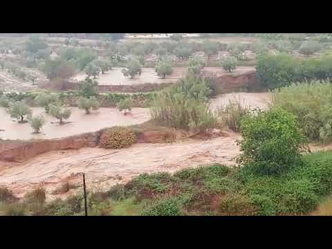Diluvio en Elche de la Sierra