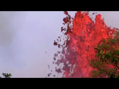 Lava Rivers Gushing From Hawaii Volcano
