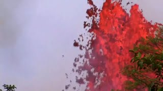 river having lava