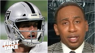 Stephen A. is disgusted with the Raiders after the blowout loss to the Falcons | First Take