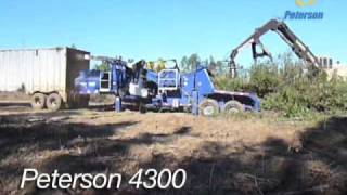 Video still for Peterson 4300 Whole Tree Drum Chipper