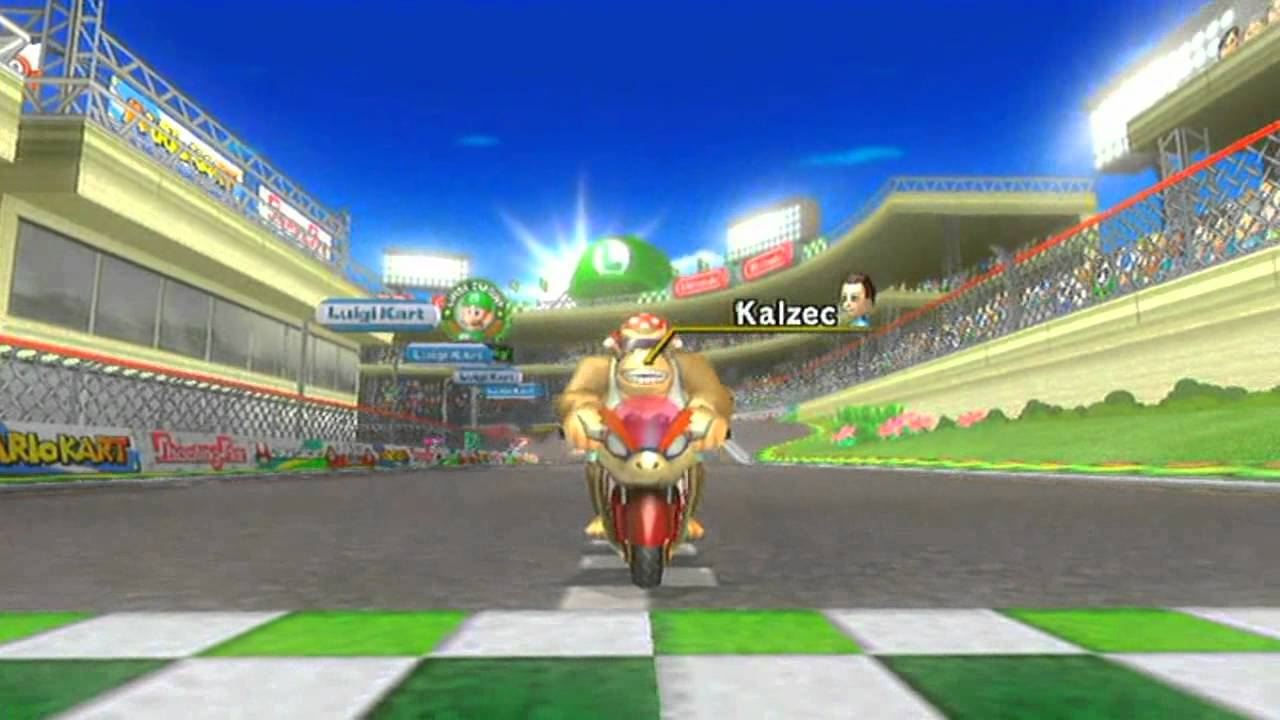 mario kart challenge episode 1 backwards time trial luigi circuit wii youtube. Black Bedroom Furniture Sets. Home Design Ideas