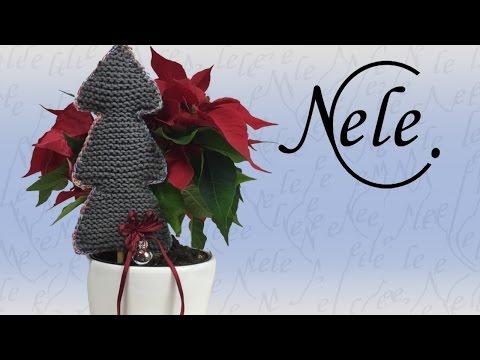 stricken, Tannenbaum stricken für Anfänger, DIY Anleitung by NeleC.