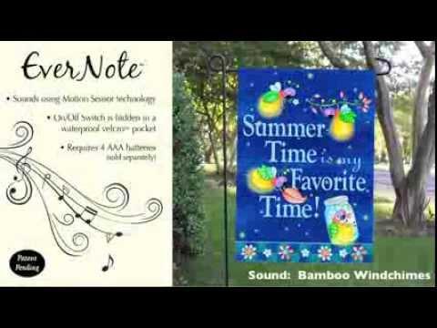 Evernote™ Garden Flag - 14EN2962 Summer Time, Favorite Time