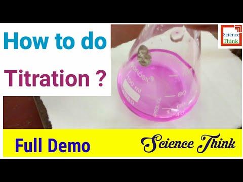 Titration Using Phenolphthalein (NaOH Vs Oxalic Acid ) Chemistry - SCIENCE THINK