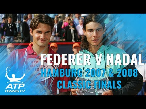 Roger Federer v Rafael Nadal: 2007 & 2008 Hamburg Finals Highlights