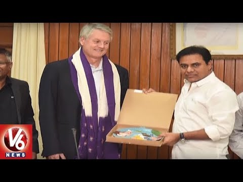 ServiceNow CEO John Donahoe Meets IT Minister KTR In Telangana Assembly | V6 News