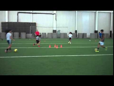 Small Group Session with talents from Elite Soccer Training