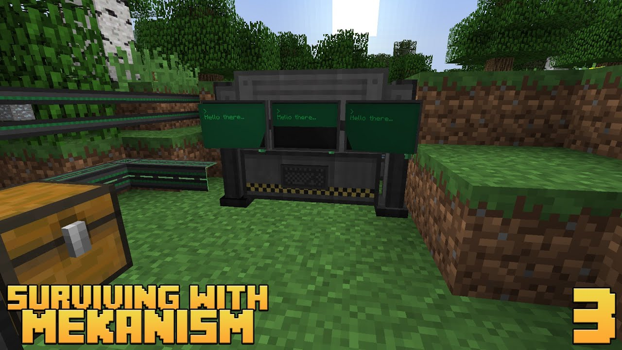 surviving with mekanism v9    ep 3 - digital miner