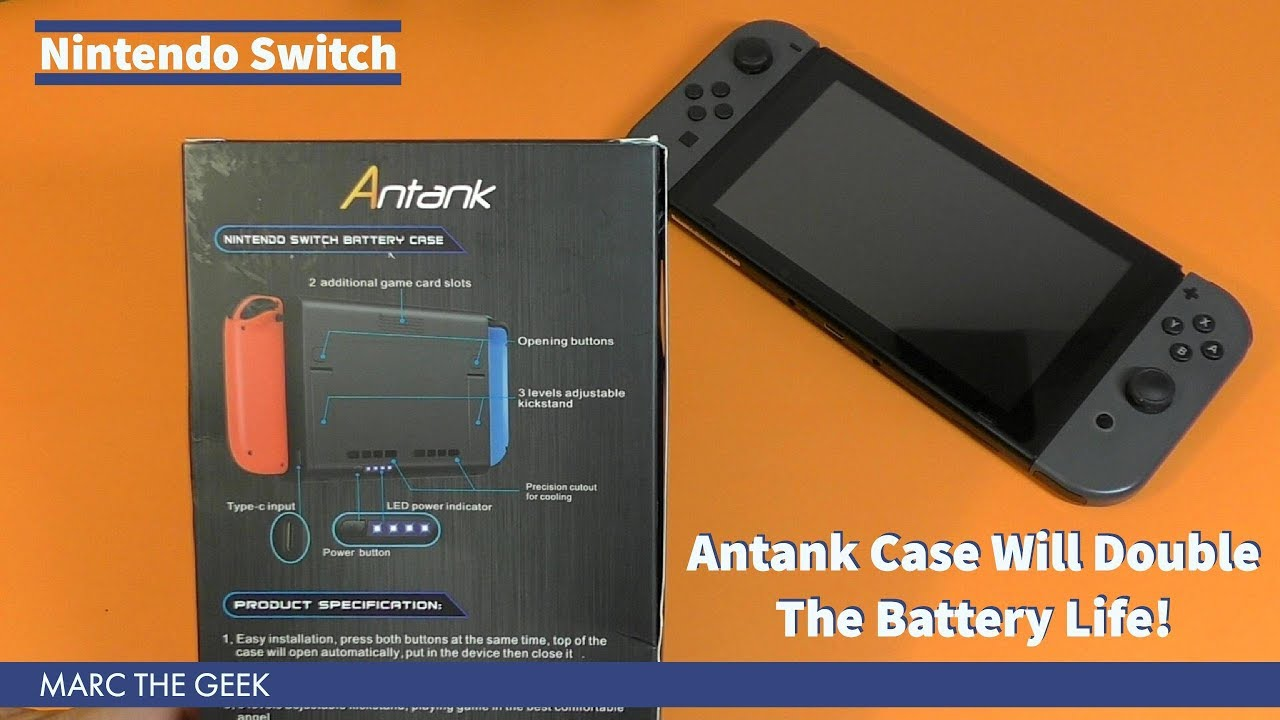 competitive price 9c2b6 028c7 Nintendo Switch Antank Case Will Double The Battery Life!