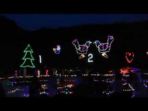Hunter Valley Gardens 12 Days of Christmas Lights Display - YouTube