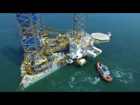 Kim Heng Marine & Oilfield World Largest Jackup Rig - Noble Lloyd Noble