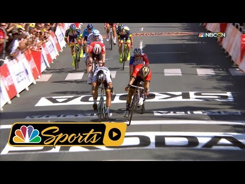 Tour de France 2018: Crash causes chaos just before Stage 2 finish I NBC Sports
