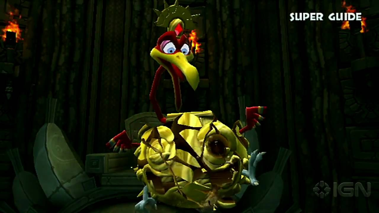 Donkey Kong Country Returns World 3 B Boss Ruined Roost