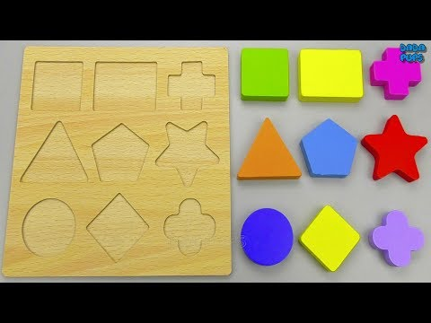 Learn Geometric Shapes for Kids | Geometric Shapes Knob Puzzle |Wooden Geometric Puzzle Shapes |Toys