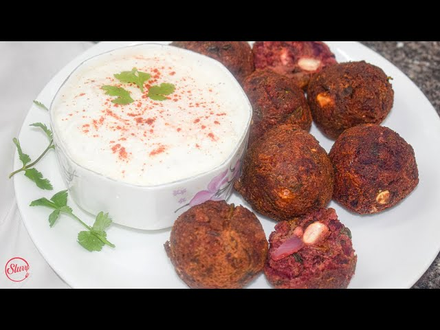 Beetroot Falafel | Vegan Beetroot Falafel Recipe