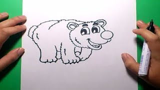 Como dibujar un oso paso a paso | How to draw a bear