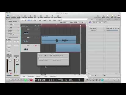 How To: Logic Pro 9 - Beginners Guide To Recording Live Audio/Sound