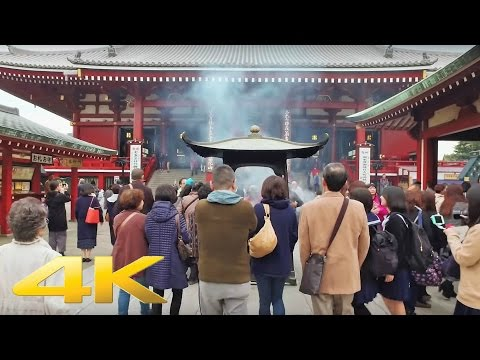 Walking around Nakamise-dori and Sensoji, Asakusa - Long Take【東京・浅草】 4K