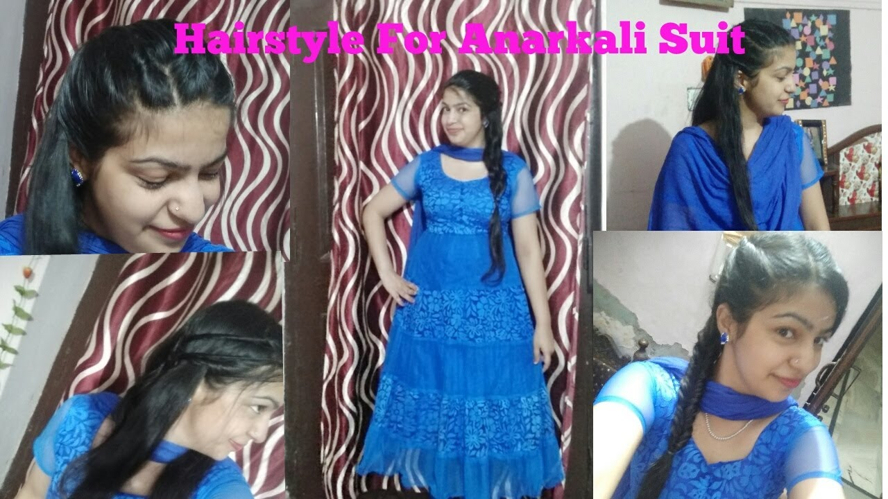 Hairstyle For Anarkali Dress Hairstyle With Frock Suit Youtube